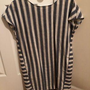 Blue Button Back Madewell Dress